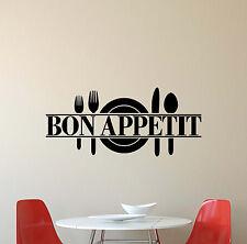 Bon Appetit Wall Decal Kitchen Sign Decor Vinyl Sticker Home Poster Mural 578