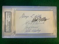 PSA HOFer Multi Autograph 3x5 Index Kelly, Feller, Roush, Waner, Appling