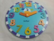 Boikido Wooden Chunky Clock Puzzle Colorful Learn To Tell Time Play