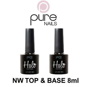Halo UV Gel Polish Base Coat & Non Wipe Top Coat Duo Pack 8ml