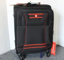 4 Wheeled Soft Carryon luggage, Black 20 inch
