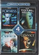 Action Movies: Fortress/Total Recall 2070/Cypher/Convict 762 (DVD, 2013)