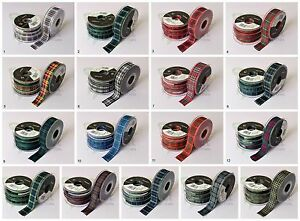 Cut Length Berisfords TARTAN Ribbon Luxury Scottish Approved Wedding Woven Craft