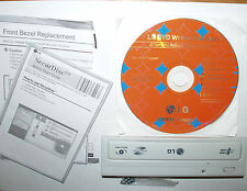 Lg super multi DVD reescritor gh22, diafragma blanco con manual y (Nero) DVD, nuevo