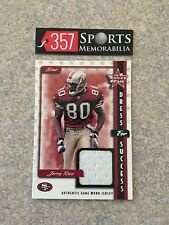 1999 LEAF ROOKIES & STARS DRESS FOR SUCCESS JERRY RICE GAME USED JERSEY #D /200