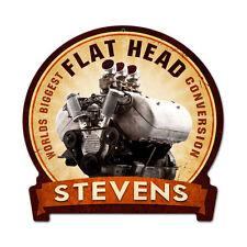 Classic Motorcycle Stevens Flat Head Motorrad Retro Sign Blechschild Schild Groß