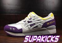 Asics GEL-LYTE 3 III (White / Purple / Yellow)  [T305N-0101] LAKERS Running Men