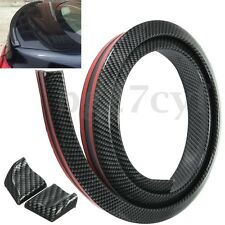 4.9FT Carbon Fiber Car Rear Roof Trunk Spoiler Bumper Wing Lip Sticker Kit 1.5M