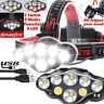 250000LM T6 LED Headlamp Headlight Torch Rechargeable Flashlight Work Camp Light