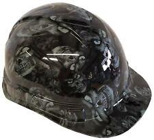 Hydro Dipped Hard Hat Ridgeline Cap Style Custom Light Gray Hades Skulls