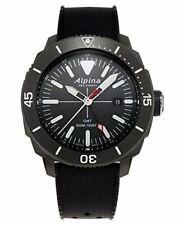 Men's Alpina Seastrong Diver 300 GMT Strap Watch Black Dial Model AL-247LGG4TV6