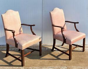 Hickory Chair Mahogany Armchairs