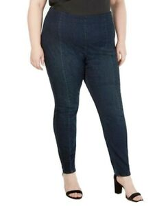 INC Women's Jeans Blue Size 18W Plus Jeggings Skinny Fit Pull On Stretch $79 834