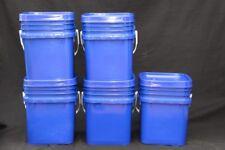 5x Food Grade sqaure bucket 15L HDPE