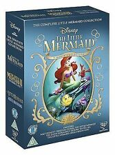 The Little Mermaid Trilogy (DVD, 2013, Box Set) R2 Walt Disney 8717418407261