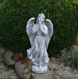 Massif Pierre Statue Ange Tombal En Fonte Résistant au Gel Décoration de Jardin