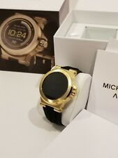 New In Box Michael Kors Access Touch Screen Black & Gold Tone Smartwatch $350