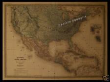 OLD MAP  19th  MEXICO STATI UNITI USA  ANTILLE