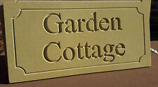 Natural cotswold stone house sign personalised with your text 400mm x 200mm
