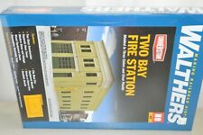 HO building structure KIT Walthers Two Bay Fire Station House