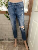 Banana Republic Low Rise Boyfriend Ripped Light Wash Jeans Size 4/27