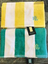 "RALPH LAUREN Beach Pool  100% cotton Towel 35""x 66"" Striped NWT 2 colors avail"