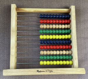 Melissa & Doug Abacus Wood Counting Beads on Frame Developmental Childs Toy