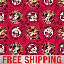 "Disney Fleece Fabric Disney Minnie Mouse Style 64552 60"" Wide Free Shipping"