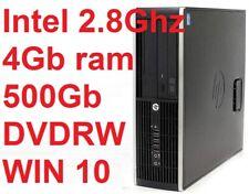 Computer Pc HP COMPAQ PRO 6300 SSF INTEL G640 2.8Ghz/500Gb/4Gb DVDRW Windows 10