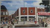 John PITTAWAY b1933 original signed large painting architecture Woolworths store