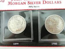1899-O & 1900-O MORGAN SILVER DOLLAR COINS & STAMP COLLECTION - (2 COINS)