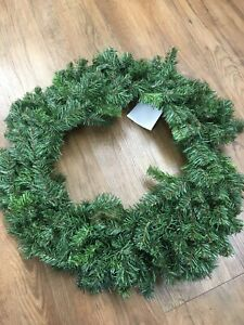 """Lot Of 5 - 24"""" Faux Evergreen Wreath Craft Supply Christmas Floral decor NEW"""