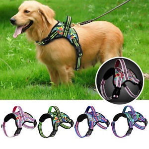 Reflective Non Pull Dog Harness Soft Mesh Walk Vest Handle for Medium Large Dogs