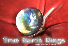 Flat Earth Bronze Toned Ring & Pendant Set - Custom Made Truth Science Facts