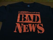 BAD NEWS BARRETT I've Got Some Bad News WWE AUTHENTIC Shirt Medium  N7