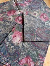 Sanderson  Fabric Napkins Set Of 4 Unused paisley Floral vintage