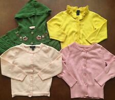 Lot Of 4 Button Down Cardigans For 18-24 Month Baby Girl