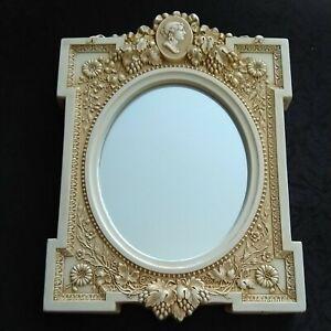 Vintage Facsimiles Ltd Victorian cameo mirror reproduction heavy 10x7.25 inch