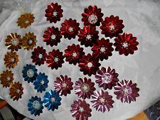 Vintage Lot of 28 Foil Flower Multi-Color Reflectors for Christmas Lights