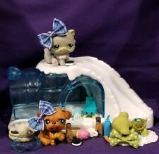 Littlest Pet Shop WINTER TIME PETS 180 Bulldog 181 Turtle 182 Cat Very RARE