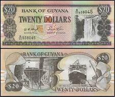 GUYANA 20 DOLLARI 2009 FDS UNC KAIETEUR FALLS SHIP BUILDING FERRY VESSEL MALALI