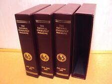 Lot 4 (2yr) National Geographic Magazine EMPTY Slip Cover/Case/Holder 1984 &1985
