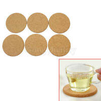 6Pcs Round Plain Cork Coaster Coffee Tea Cup Mat 0.5cm Thickness for Kitchen
