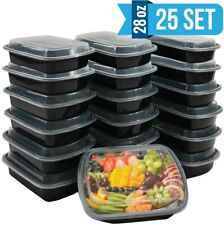 [25 Sets-50pcs] 28oz Meal Prep Food Containers with Lids, Reusable Microwavable