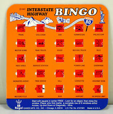 "1997 REGAL #9172 ""INTERSTATE HIGHWAY BINGO"" (1) SHUTTER WINDOW BINGO CARD"