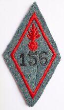 Insigne tissu 1914/1918 WWI Bleu Horizon 156° RI FORTERESSE VERDUN 1916 ORIGINAL