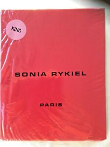 SONIA RYKIEL-Paris Rue Saint Guillaume-Poppy Red-KING FITTED SHEET- NEW-PERCALE