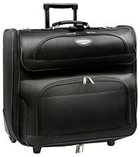 "Amsterdam 23"" Black Wheeled Rolling Upright Garment Travel Bag Luggage Suitcase"