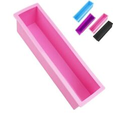 DIY Silicone Processing Baking Loaf Rectangle Tools Mold Soap Cake