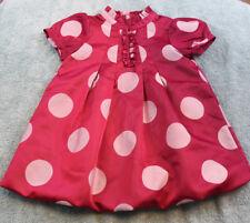 BABY GAP girls12-18 months pink polka dot dress